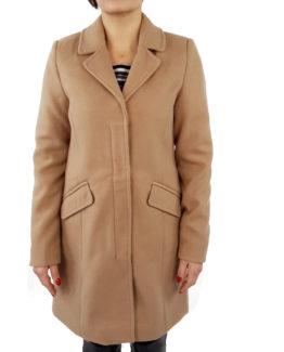 Capotto slim in panno VERO MODA Cappotti Donna Cappotto in panno   cappotto veromoda   cappotto con zip e bottoni  cappotto slim fit Blu Cammello 100% Poliestere